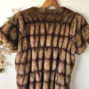 Zara Jackets & Coats - Zara Faux Fur Short Sleeved Jacket